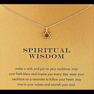 14k Gold Dipped Spiritual Wisdom Necklace